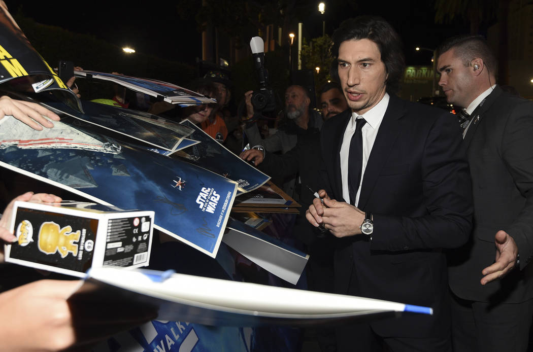 "Adam Driver at ""Star Wars: The Rise of Skywalker"" premiere in LA"