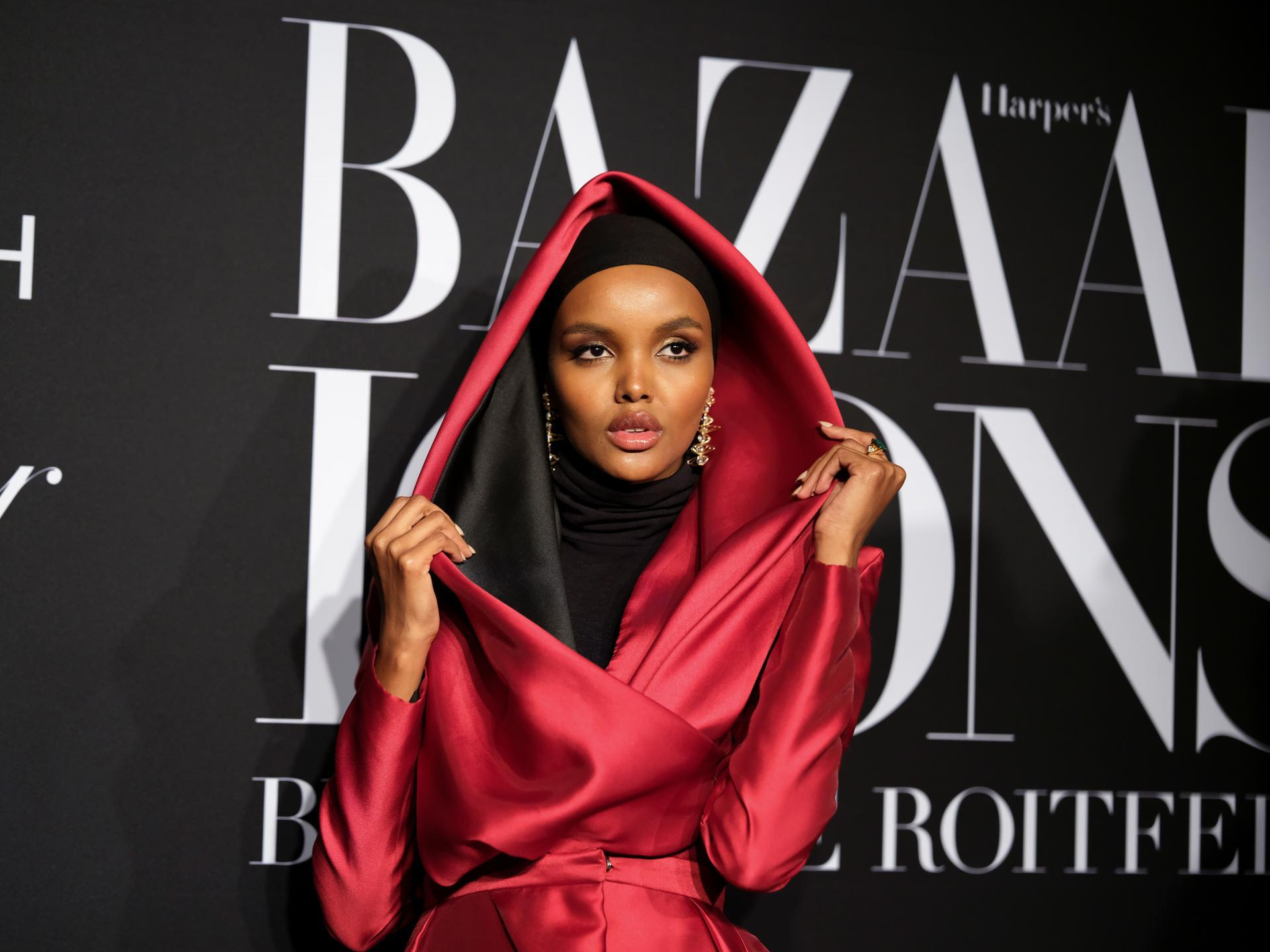 Halima Aden at the Harper's Bazaar ICONS Party 2019