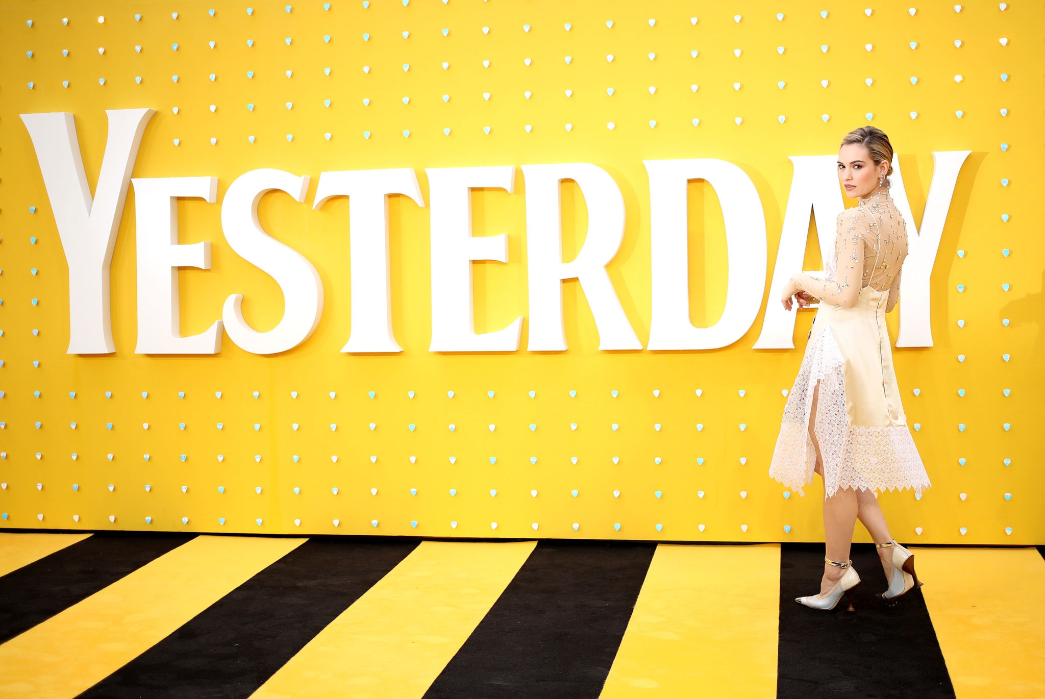 "Lily James at ""Yesterday"" UK Premiere – London"