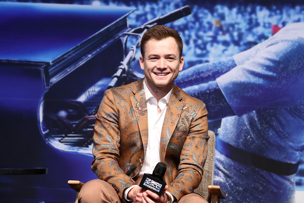 "Taron Egerton at ""Rocketman"" South Korea Premiere"