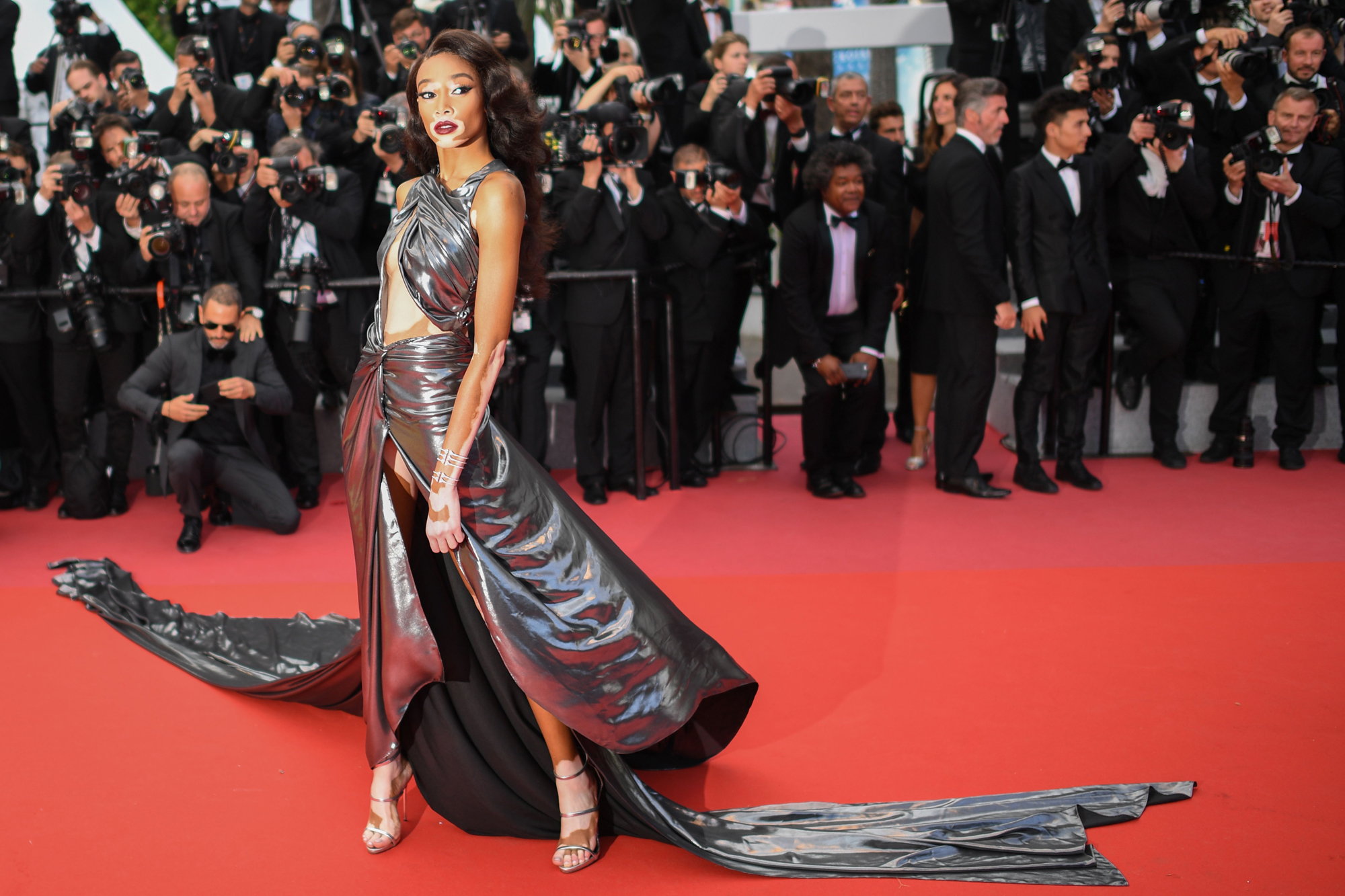 "Winnie Harlow at ""Solo: A Star Wars Story"" Red Carpet – Cannes Film Festival 2018"